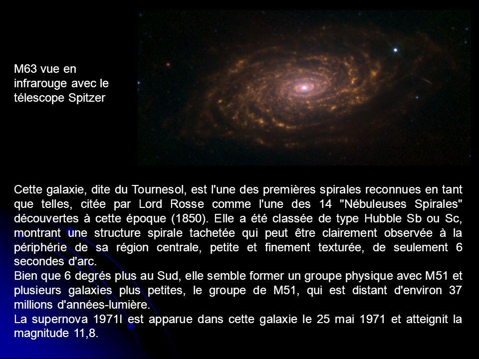 M63 vue en infrarouge avec le télescope Spitzer