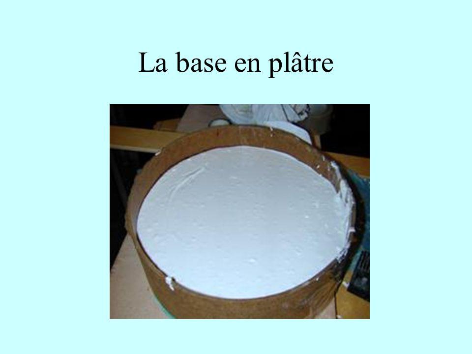 La base en plâtre