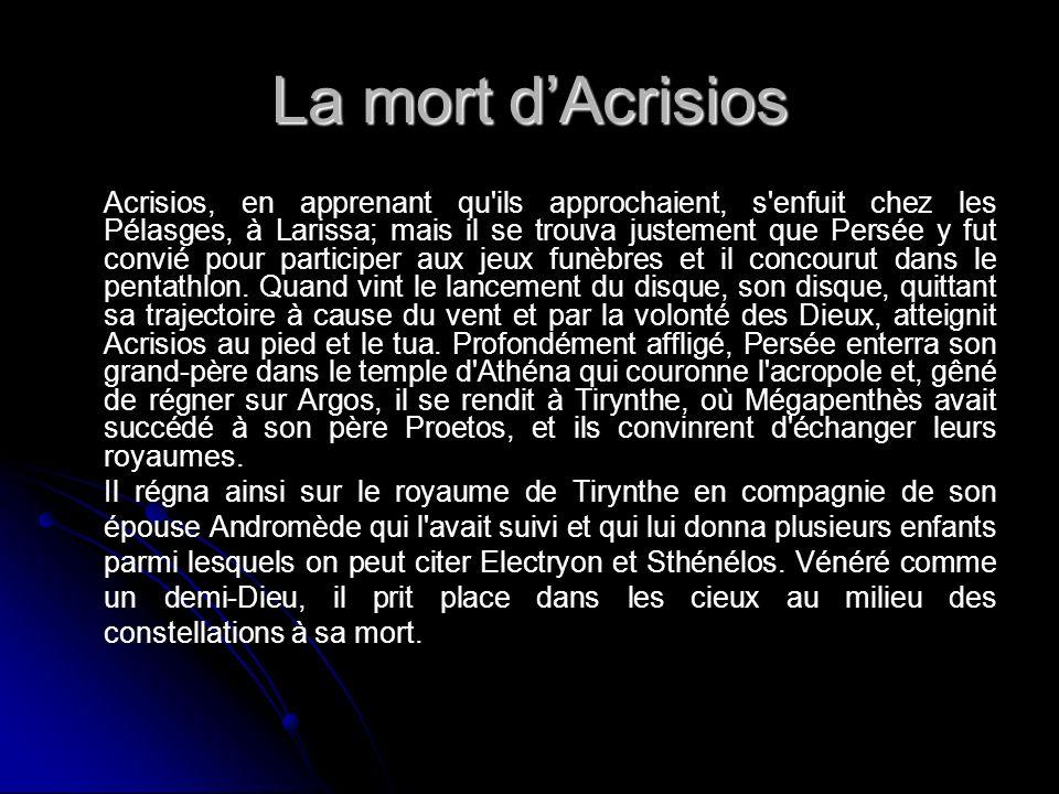 La mort d'Acrisios