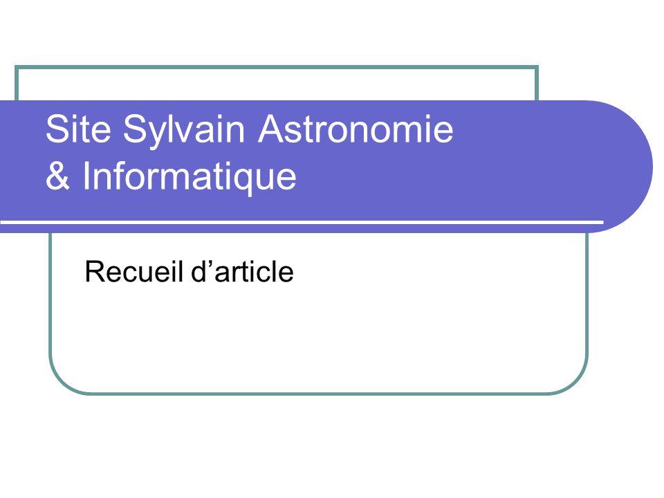Site Sylvain Astronomie & Informatique