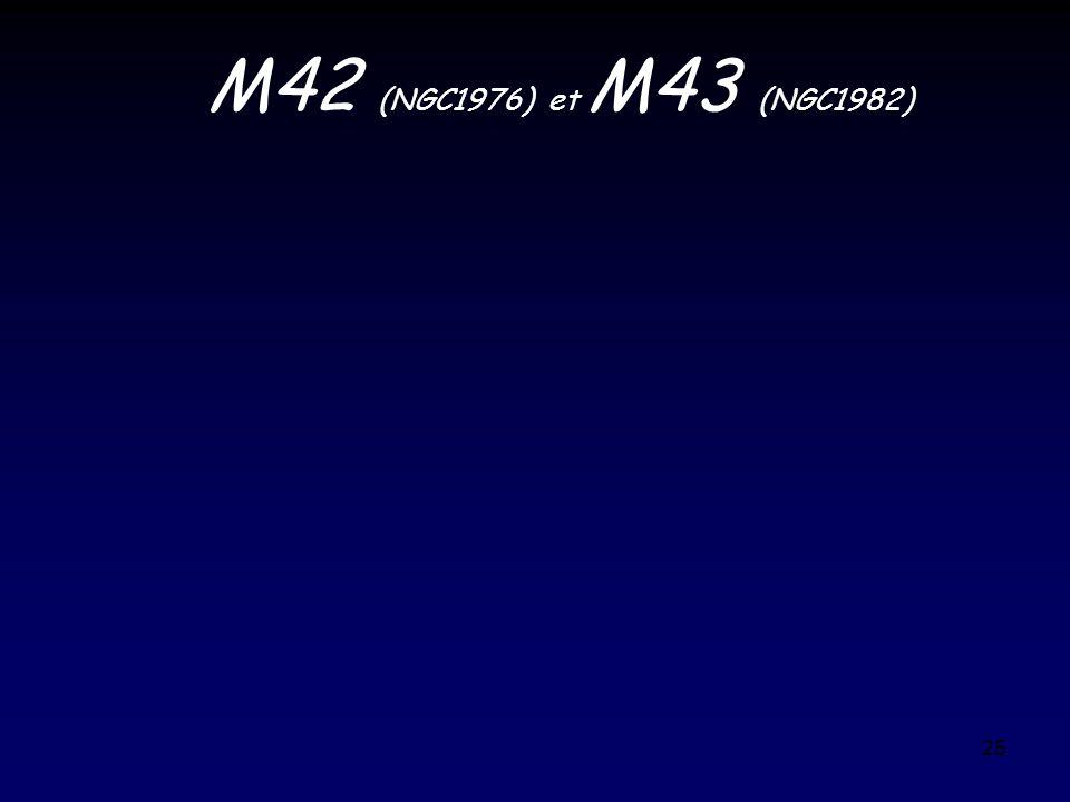 M42 (NGC1976) et M43 (NGC1982)