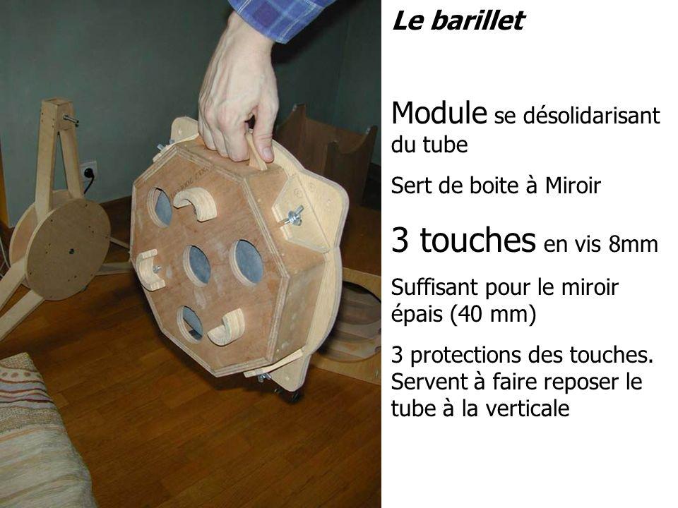 3 touches en vis 8mm Module se désolidarisant du tube Le barillet