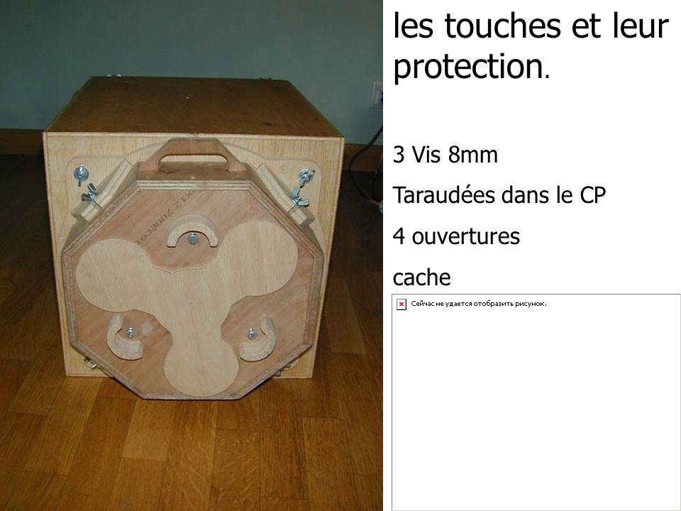 les touches et leur protection.
