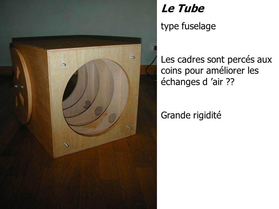 Le Tube type fuselage. Les cadres sont percés aux coins pour améliorer les échanges d 'air .