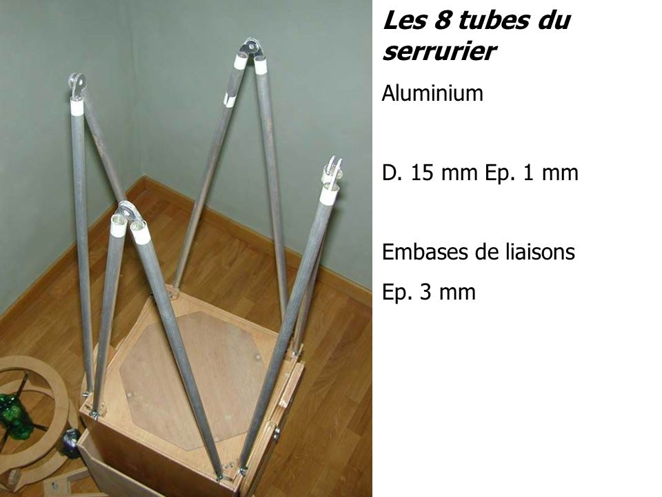 Les 8 tubes du serrurier Aluminium D. 15 mm Ep. 1 mm