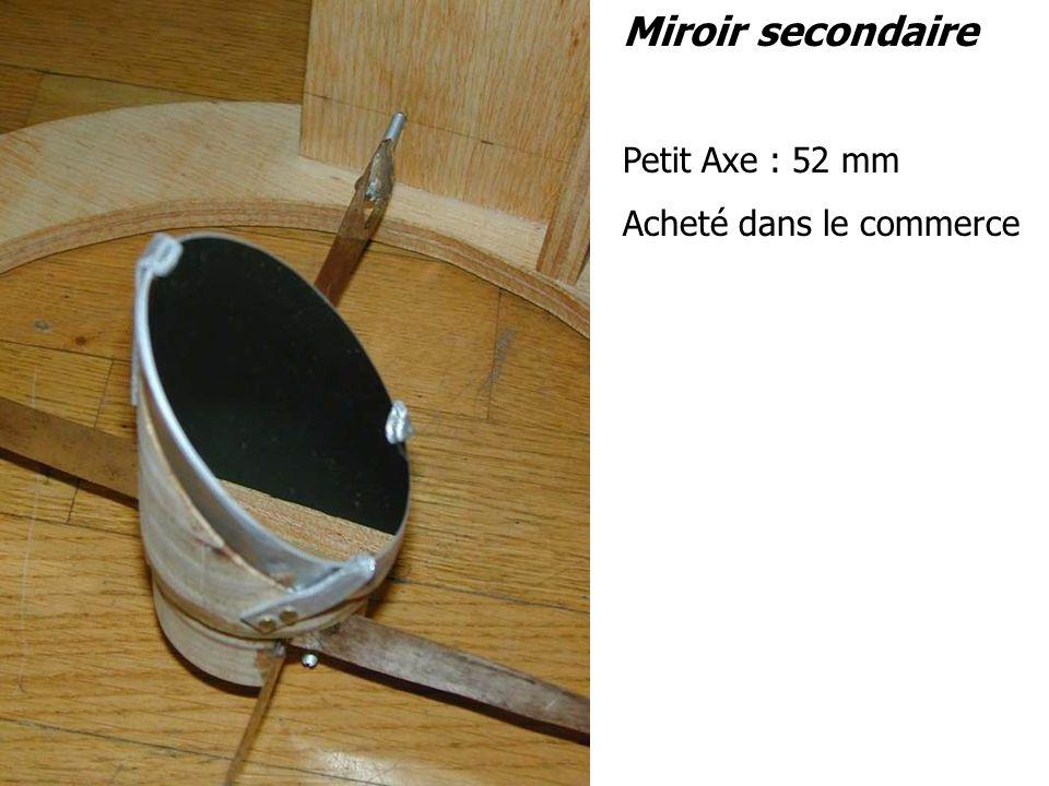 Miroir secondaire Petit Axe : 52 mm Acheté dans le commerce