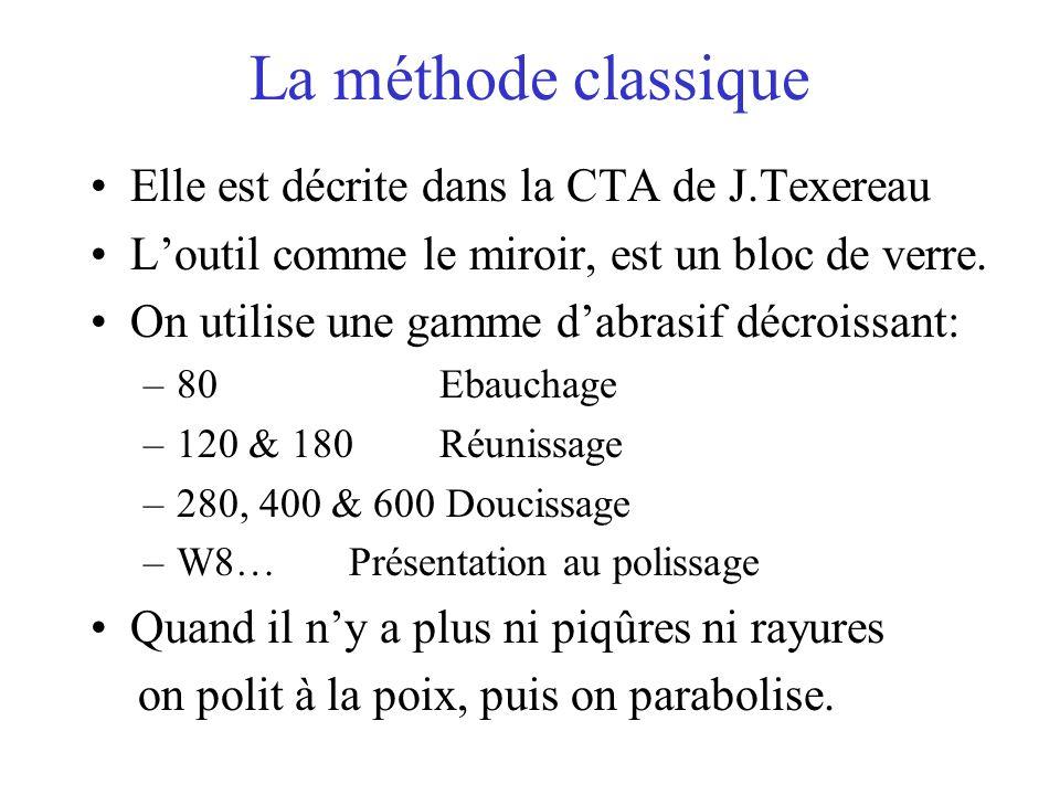 La méthode classique Elle est décrite dans la CTA de J.Texereau