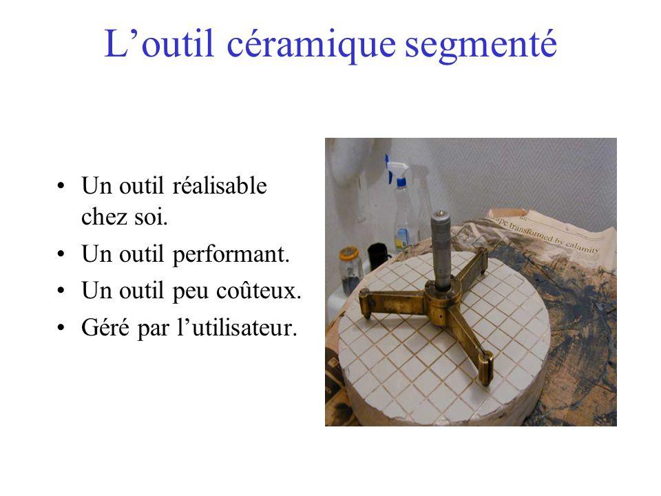 L'outil céramique segmenté