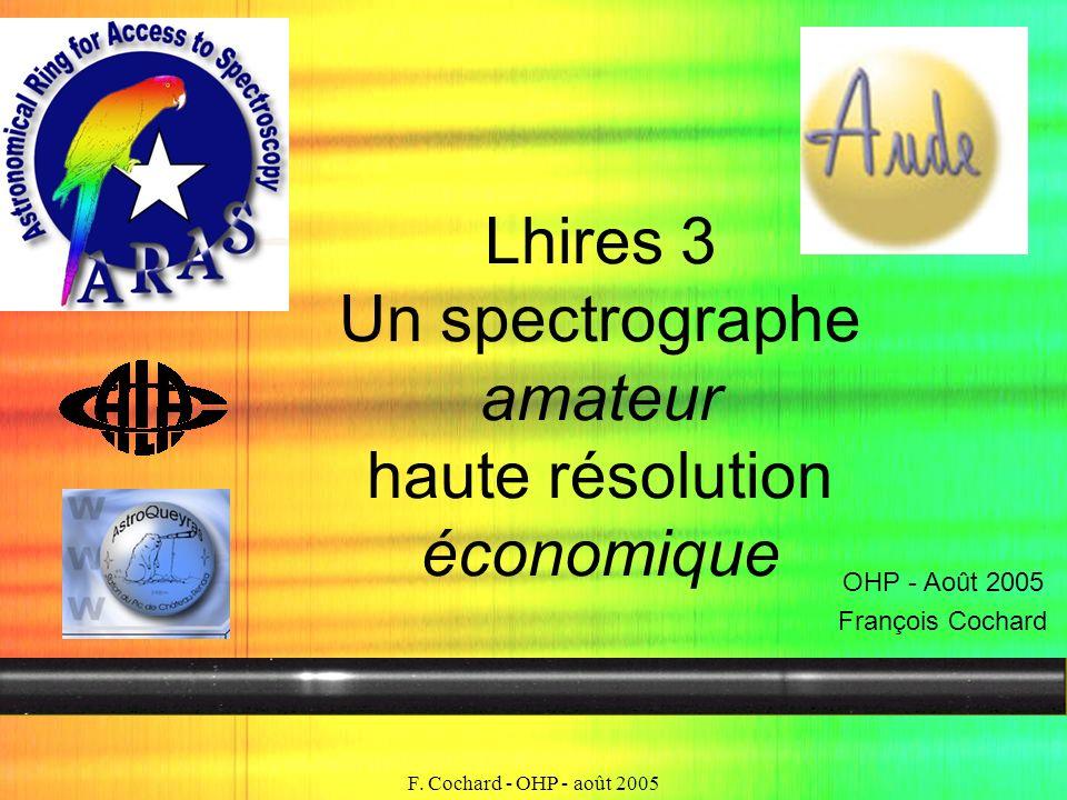 Lhires 3 Un spectrographe amateur haute résolution économique