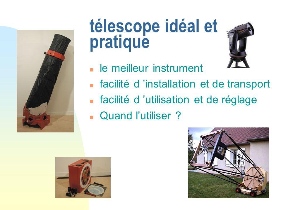 télescope idéal et pratique