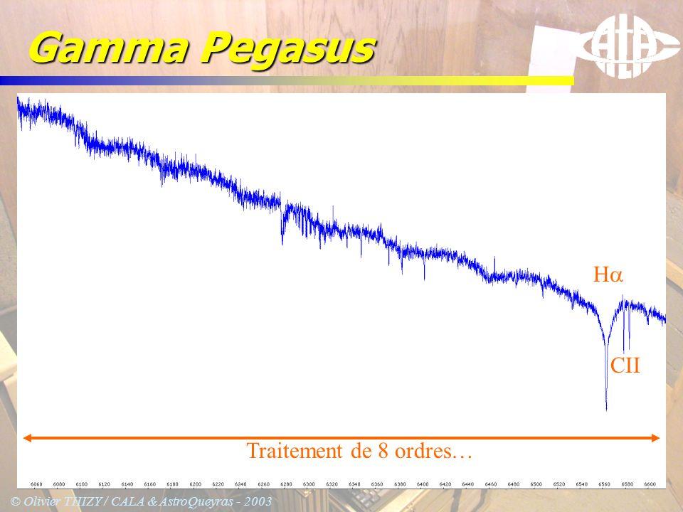 Gamma Pegasus Ha CII Traitement de 8 ordres…