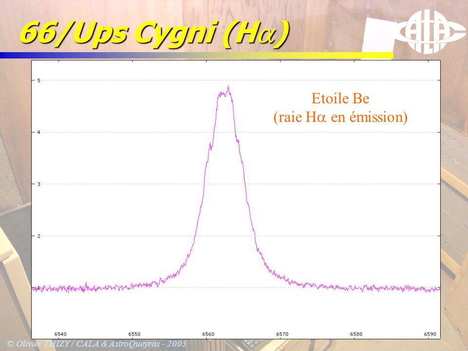66/Ups Cygni (Ha) Etoile Be (raie Ha en émission)