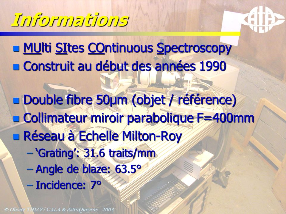 Informations MUlti SItes COntinuous Spectroscopy