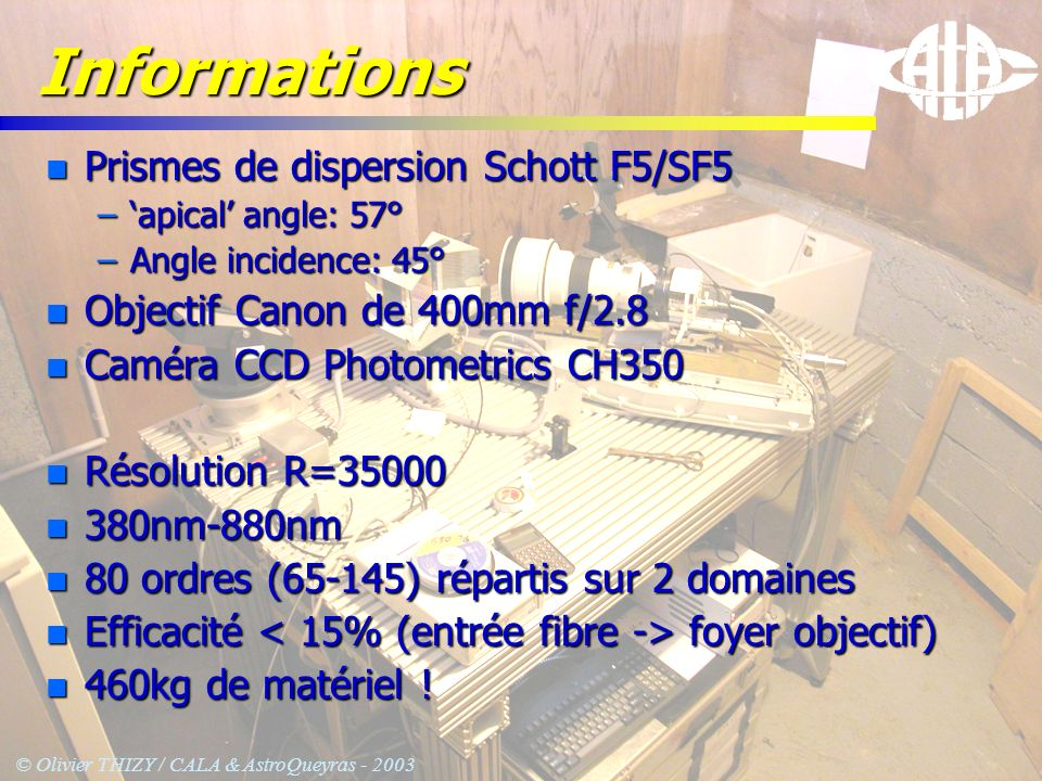 Informations Prismes de dispersion Schott F5/SF5