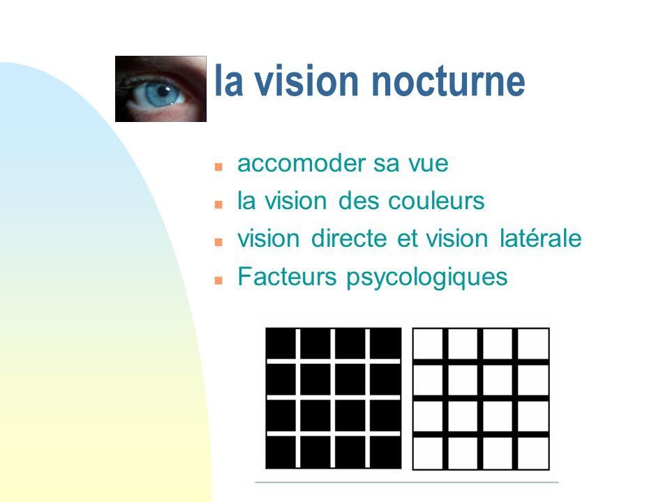 la vision nocturne accomoder sa vue la vision des couleurs