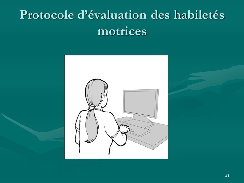 Protocole d'évaluation des habiletés motrices