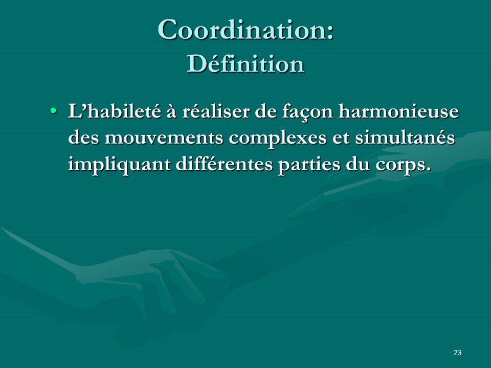 Coordination: Définition