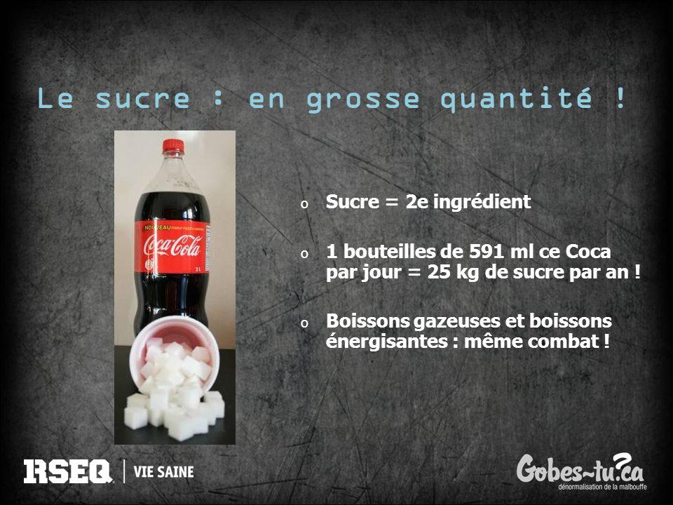 Le sucre : en grosse quantité !