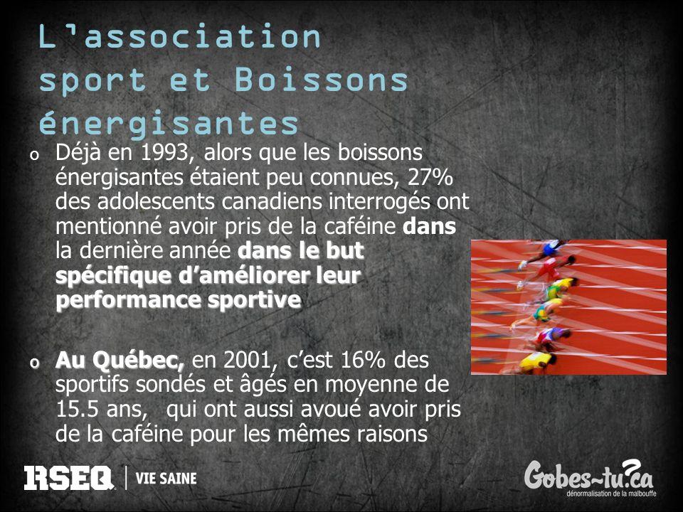 L'association sport et Boissons énergisantes