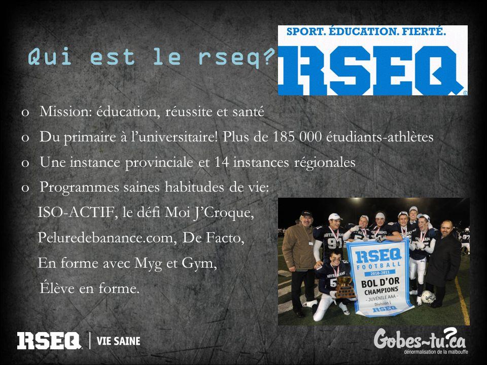 Qui est le rseq Mission: éducation, réussite et santé