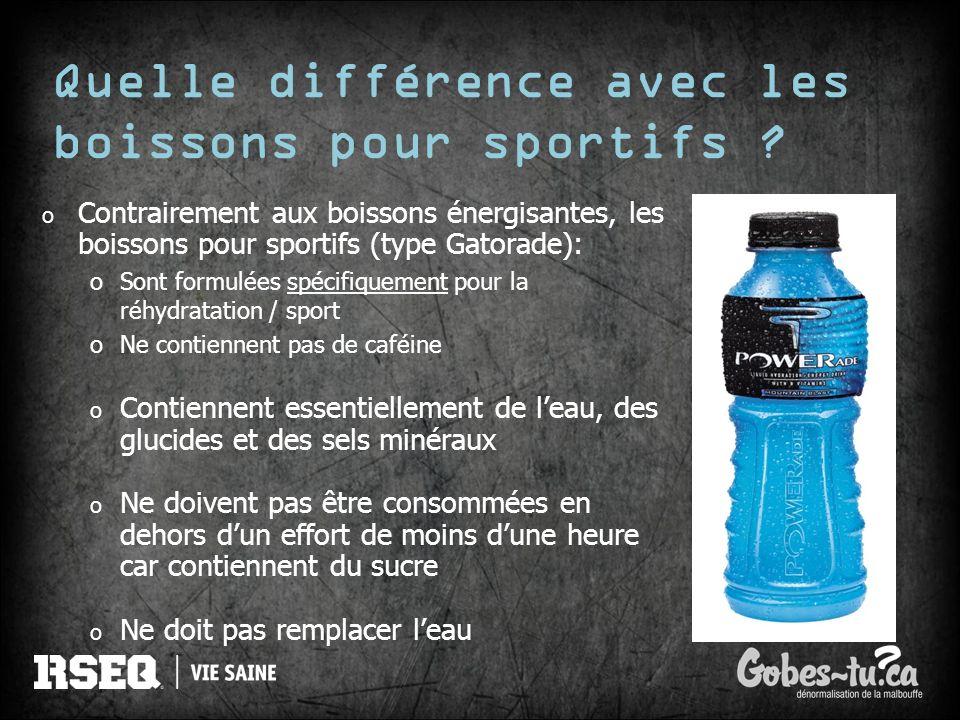 Quelle différence avec les boissons pour sportifs