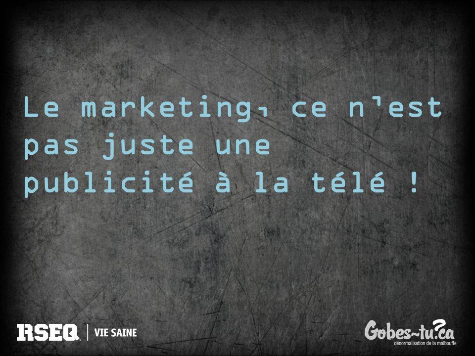 Le marketing, ce n'est pas juste une publicité à la télé !