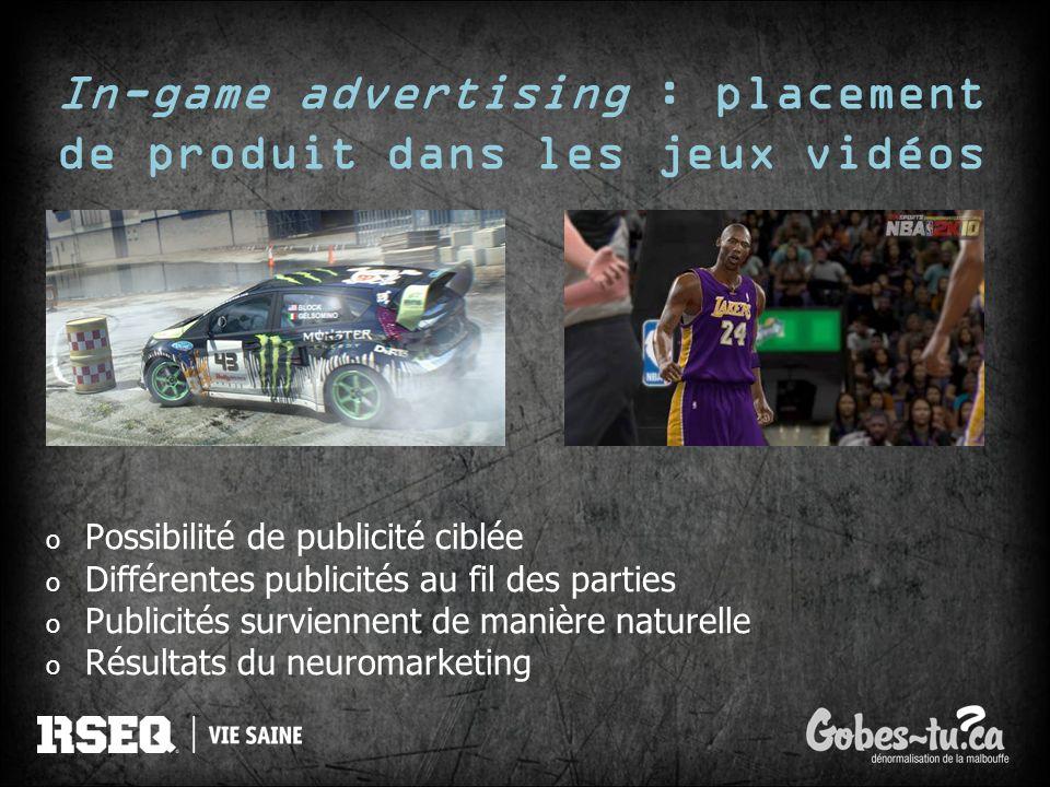 In-game advertising : placement de produit dans les jeux vidéos