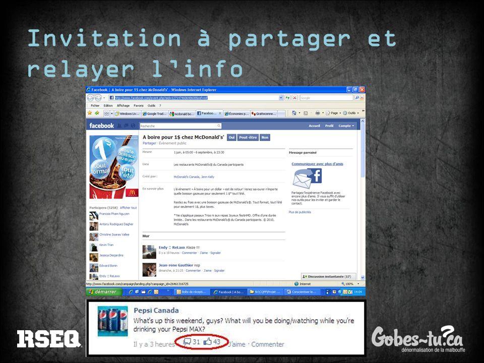 Invitation à partager et relayer l'info