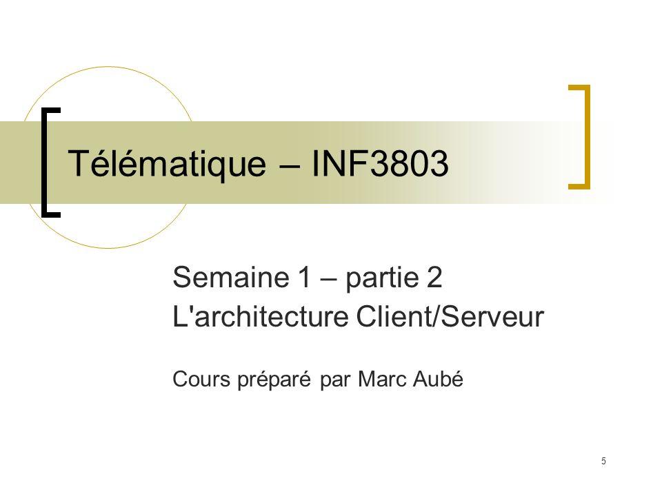 Télématique – INF3803 Semaine 1 – partie 2