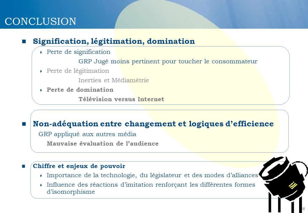 CONCLUSION Signification, légitimation, domination