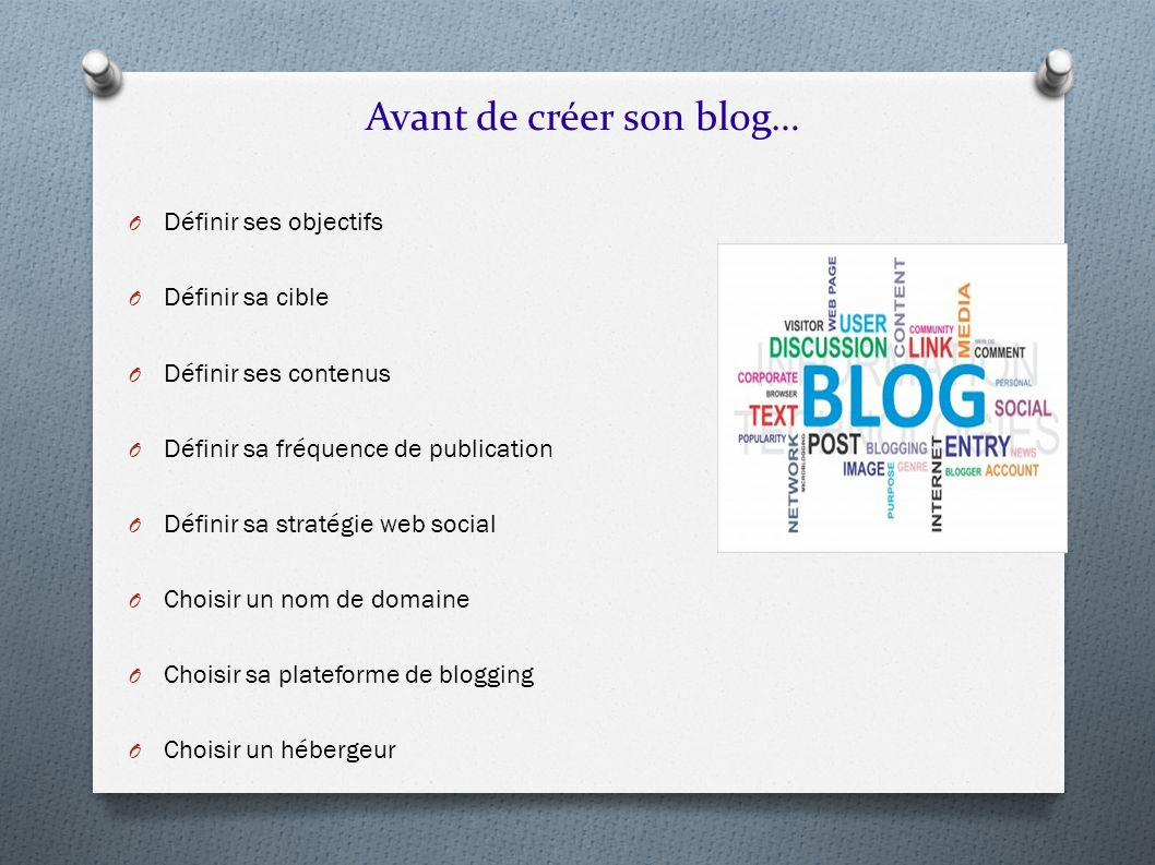 Avant de créer son blog…
