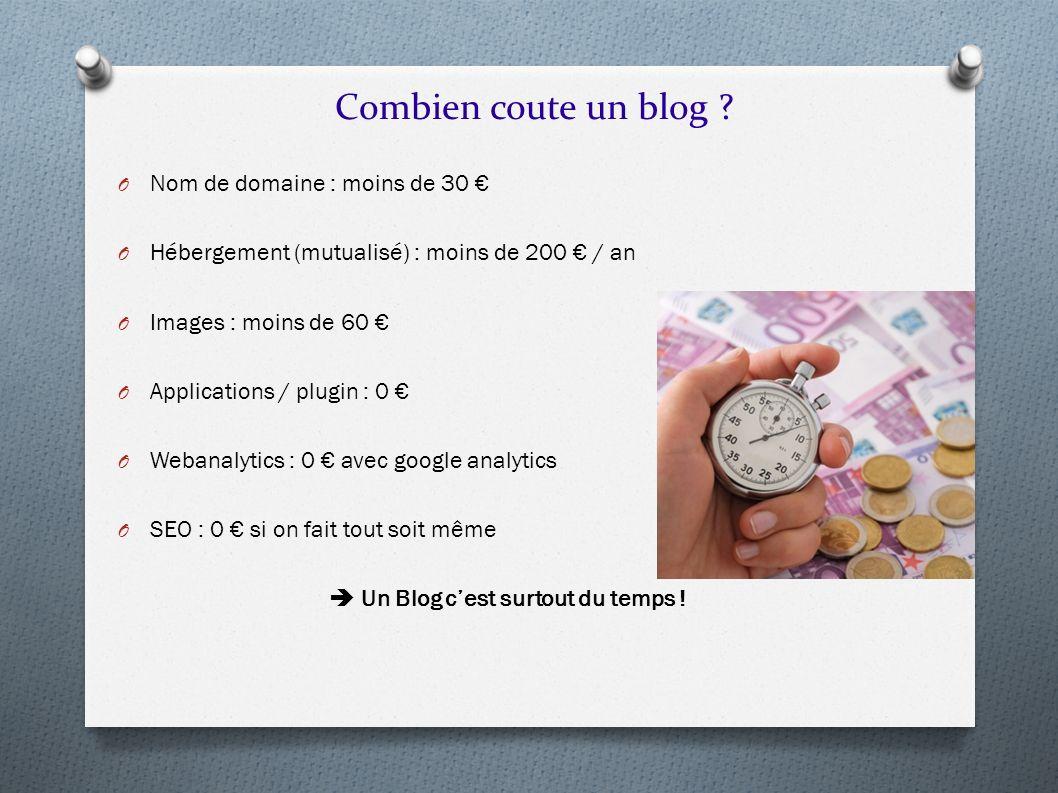 Combien coute un blog Nom de domaine : moins de 30 €
