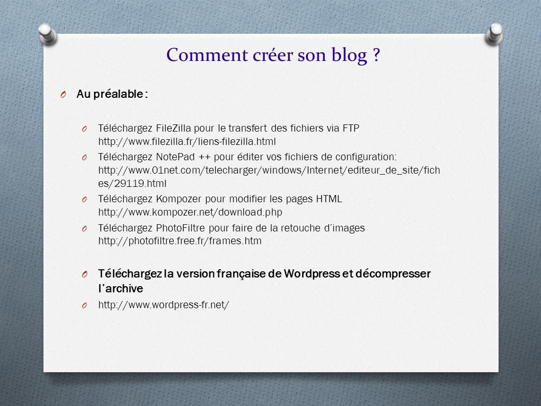 Comment créer son blog Au préalable :