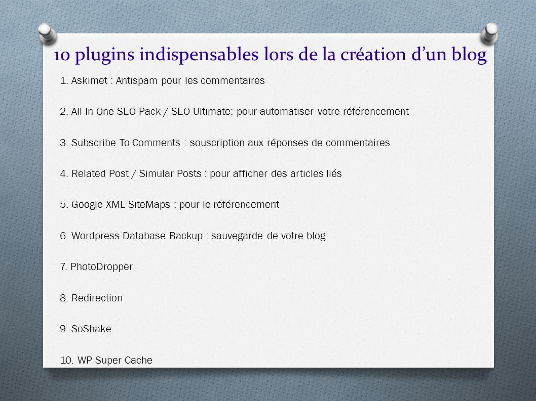 10 plugins indispensables lors de la création d'un blog