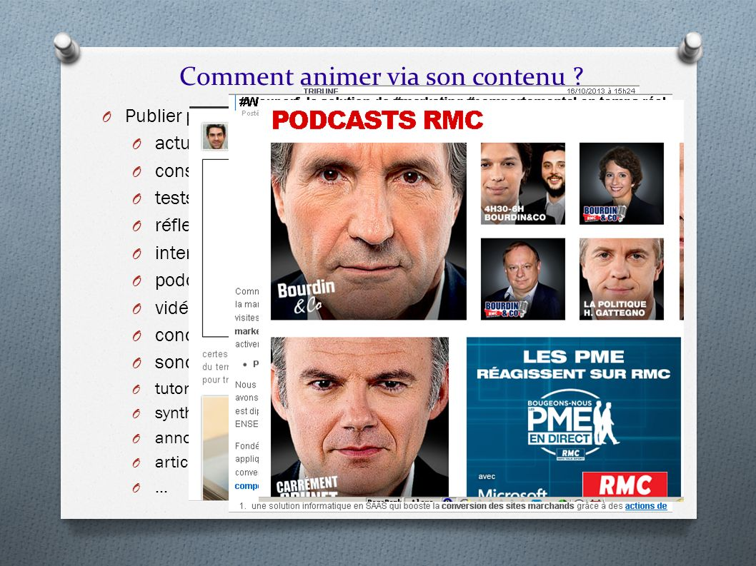 Comment animer via son contenu