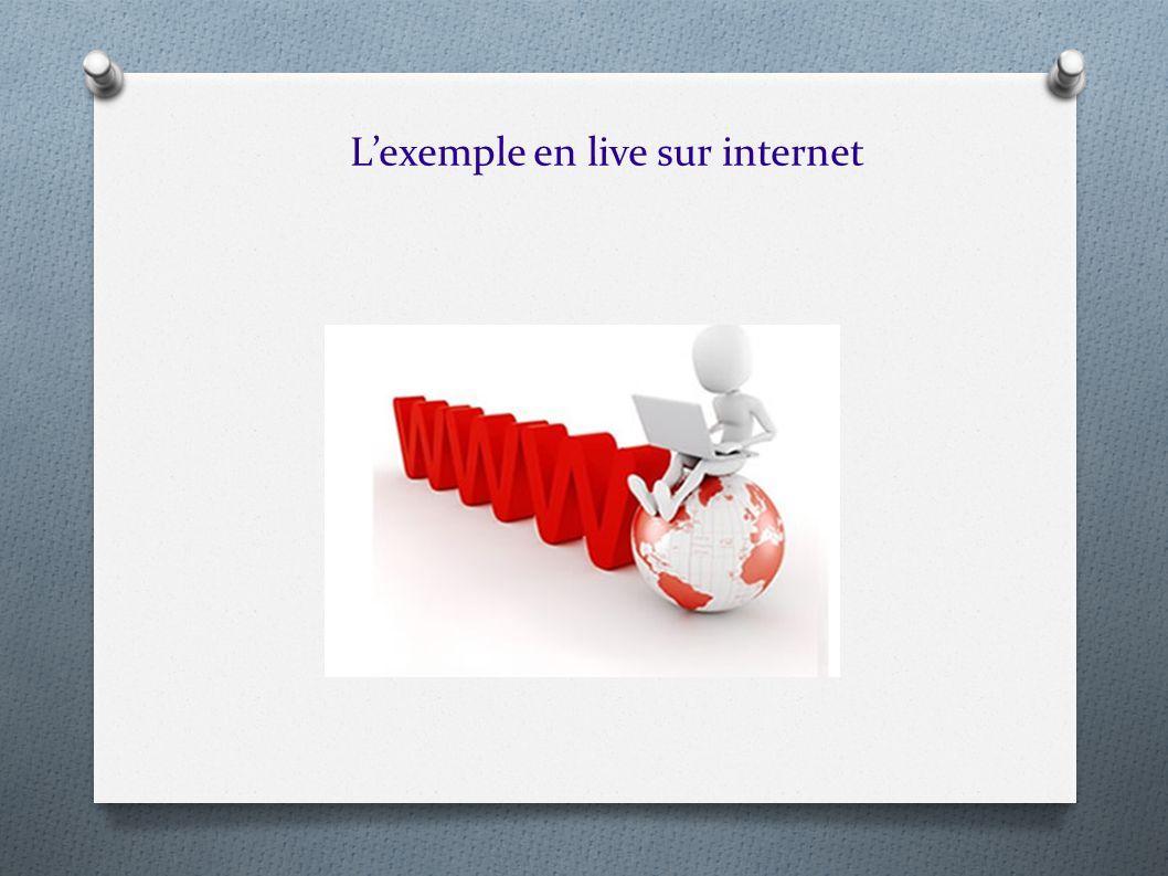 L'exemple en live sur internet