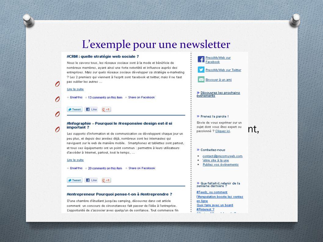 L'exemple pour une newsletter