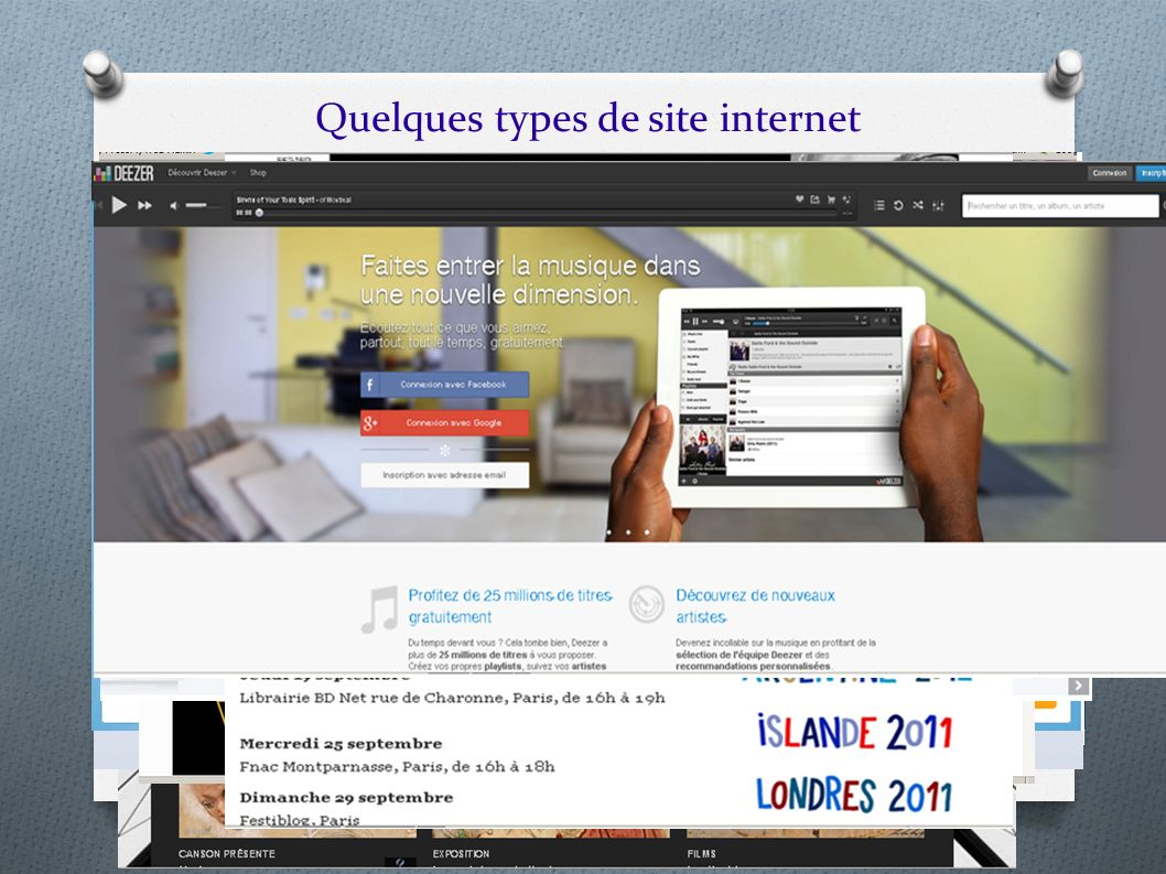 Quelques types de site internet