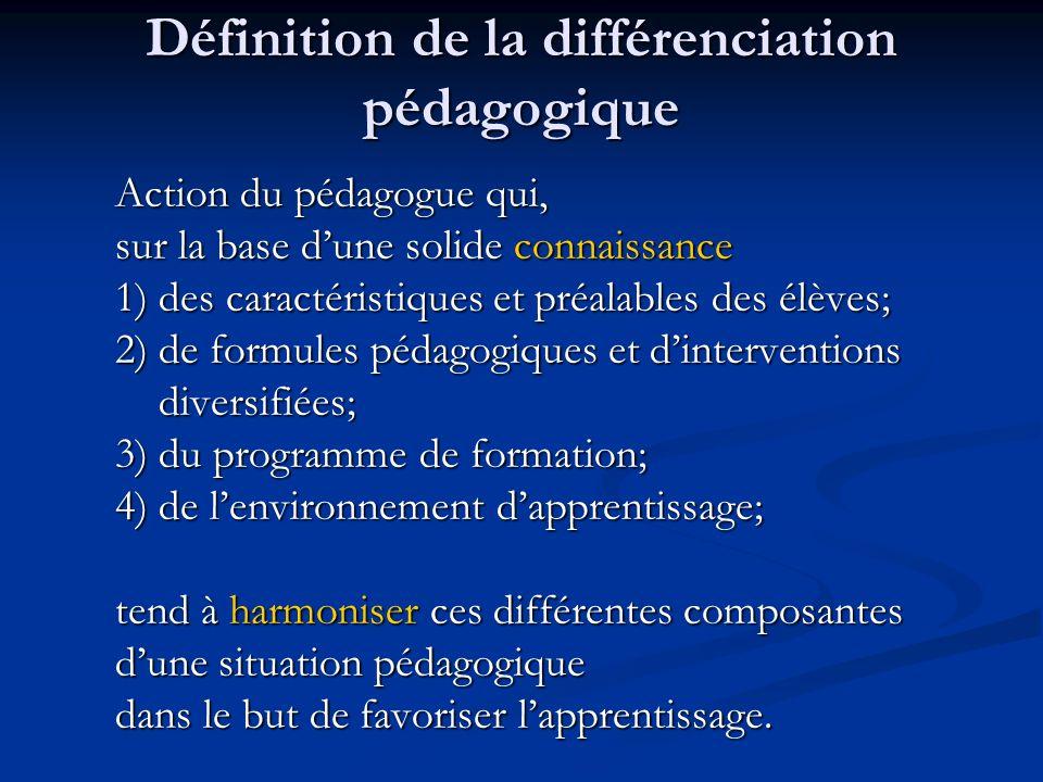 Définition de la différenciation pédagogique
