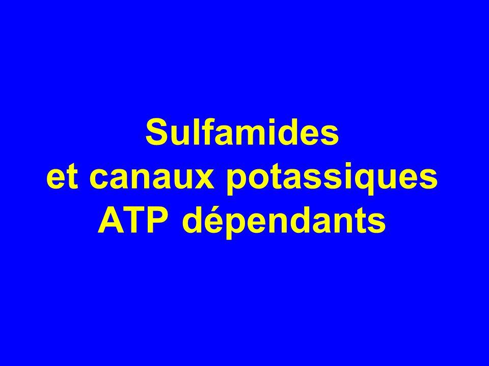 Sulfamides et canaux potassiques ATP dépendants
