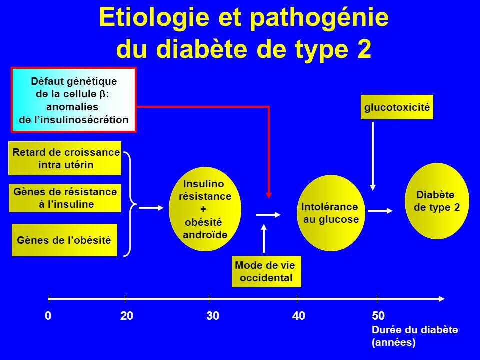 Etiologie et pathogénie du diabète de type 2