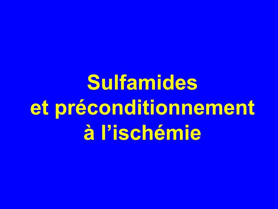 Sulfamides et préconditionnement à l'ischémie