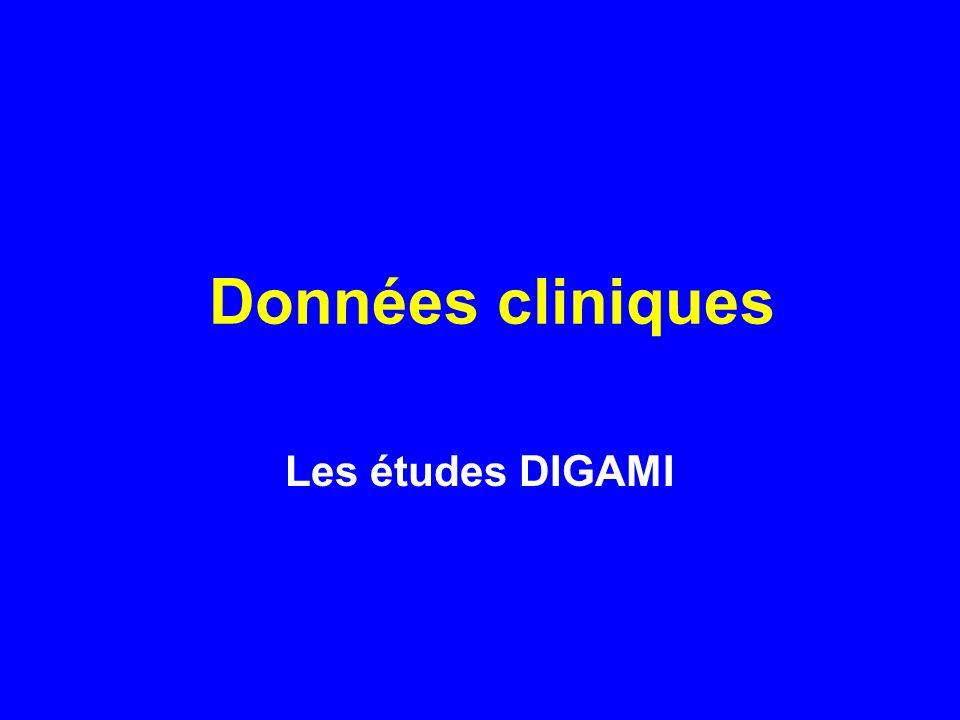 Données cliniques Les études DIGAMI