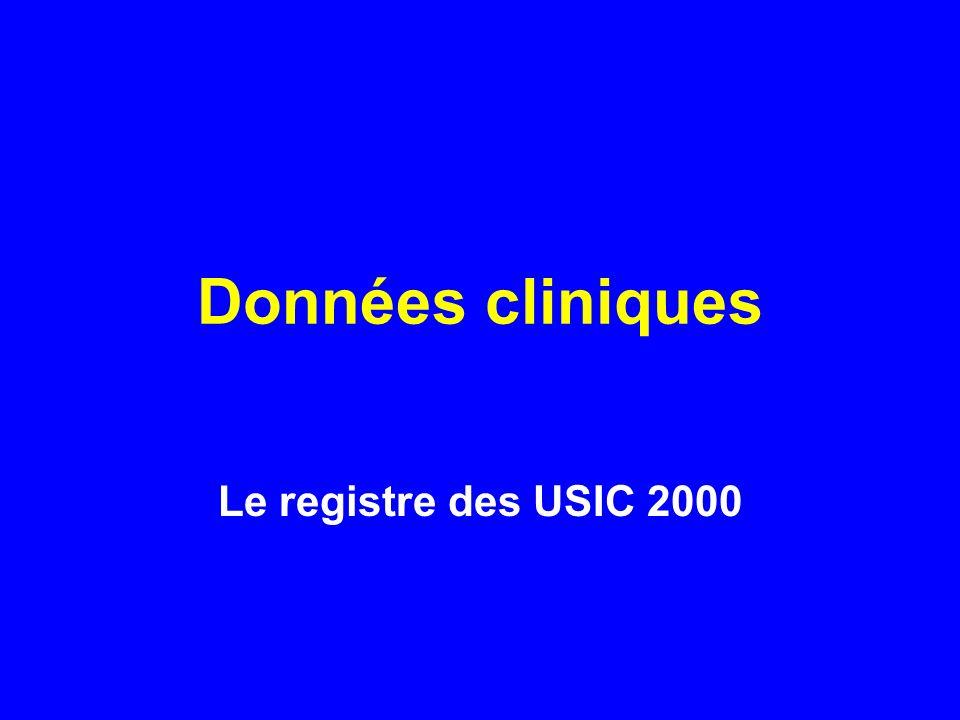 Données cliniques Le registre des USIC 2000