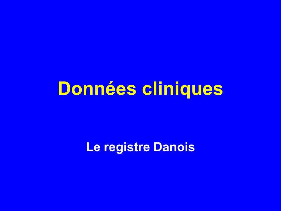 Données cliniques Le registre Danois Donc