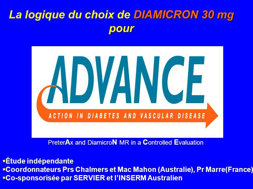 La logique du choix de DIAMICRON 30 mg pour