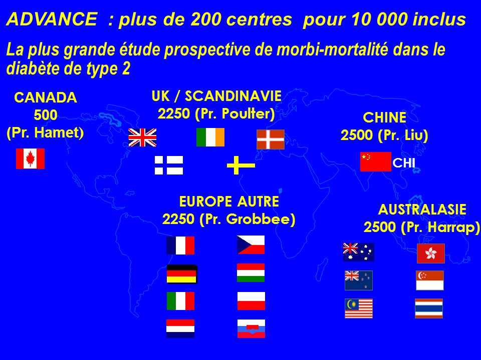 ADVANCE : plus de 200 centres pour 10 000 inclus