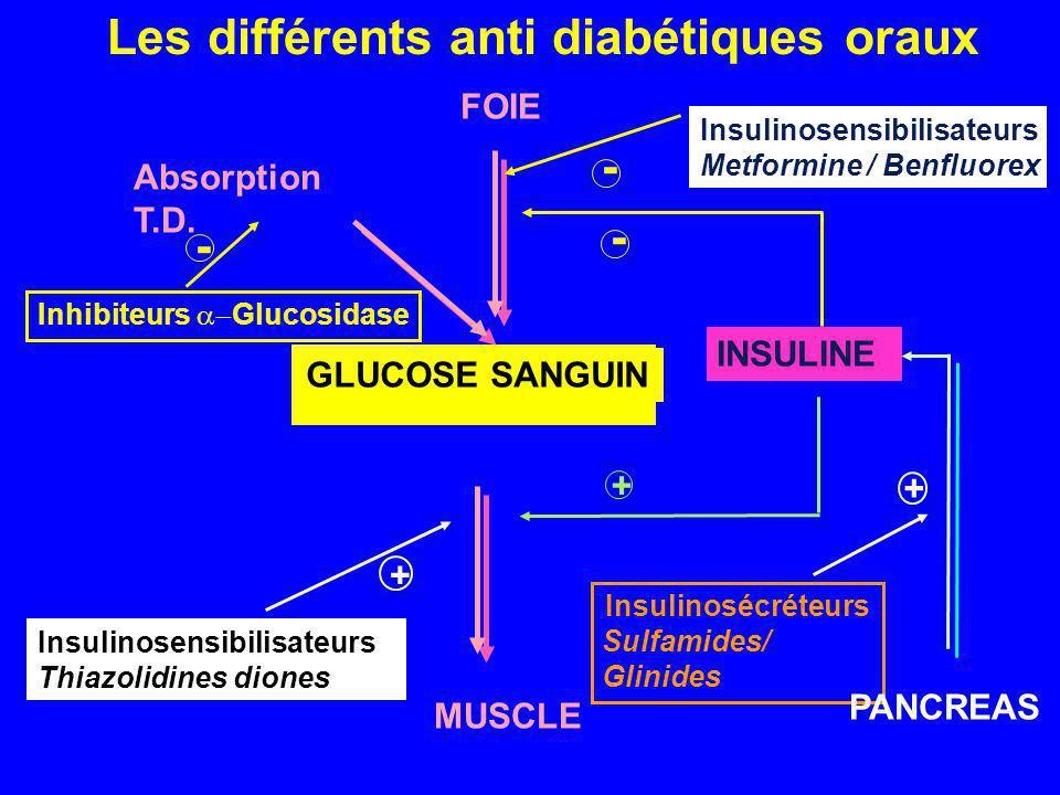 Les différents anti diabétiques oraux