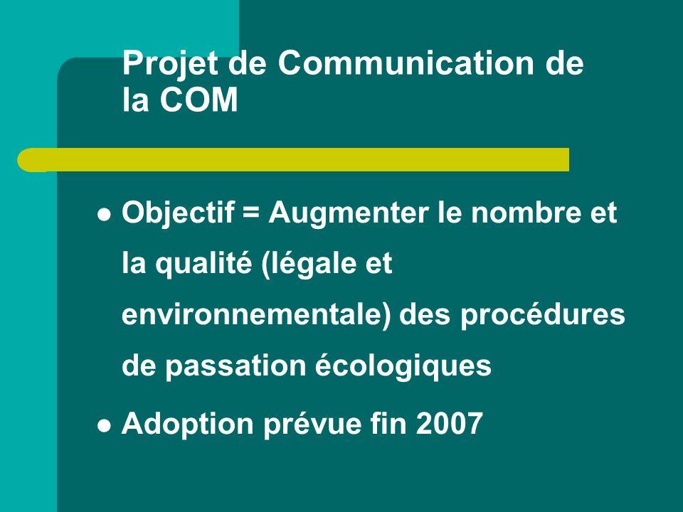 Projet de Communication de la COM
