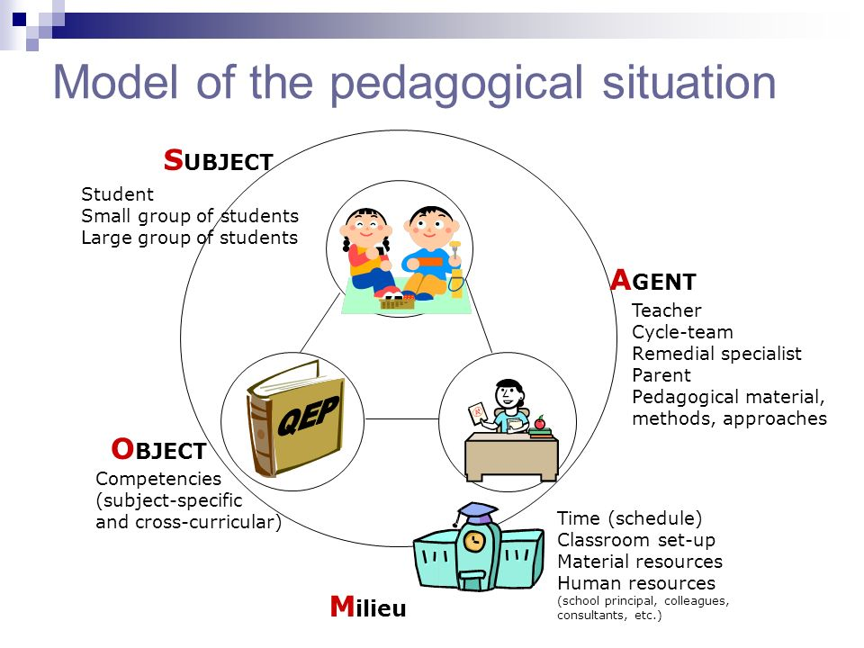 Model of the pedagogical situation
